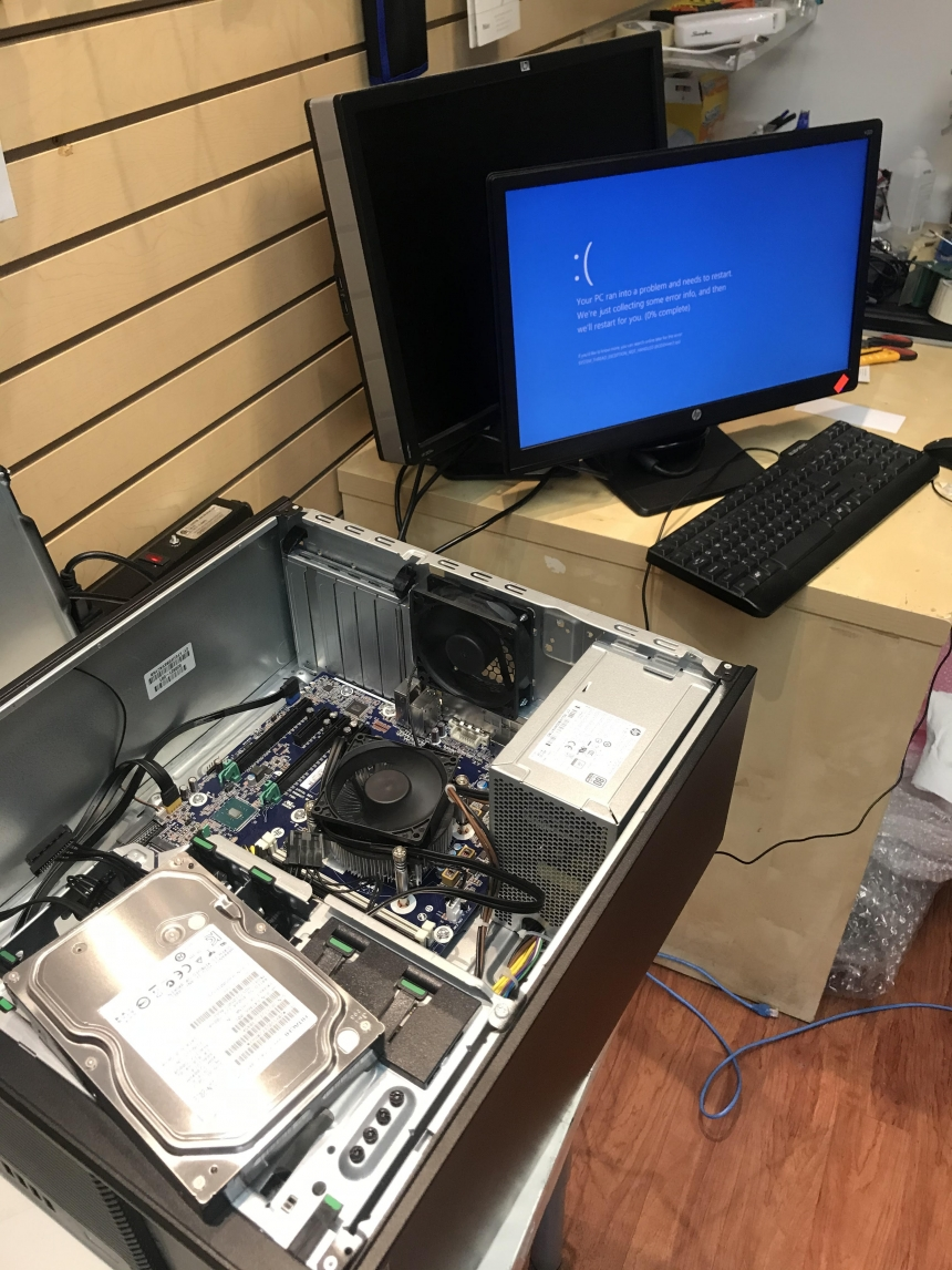 HP Pavilion Desktop Computer Repair - Hard Drive issue fixed