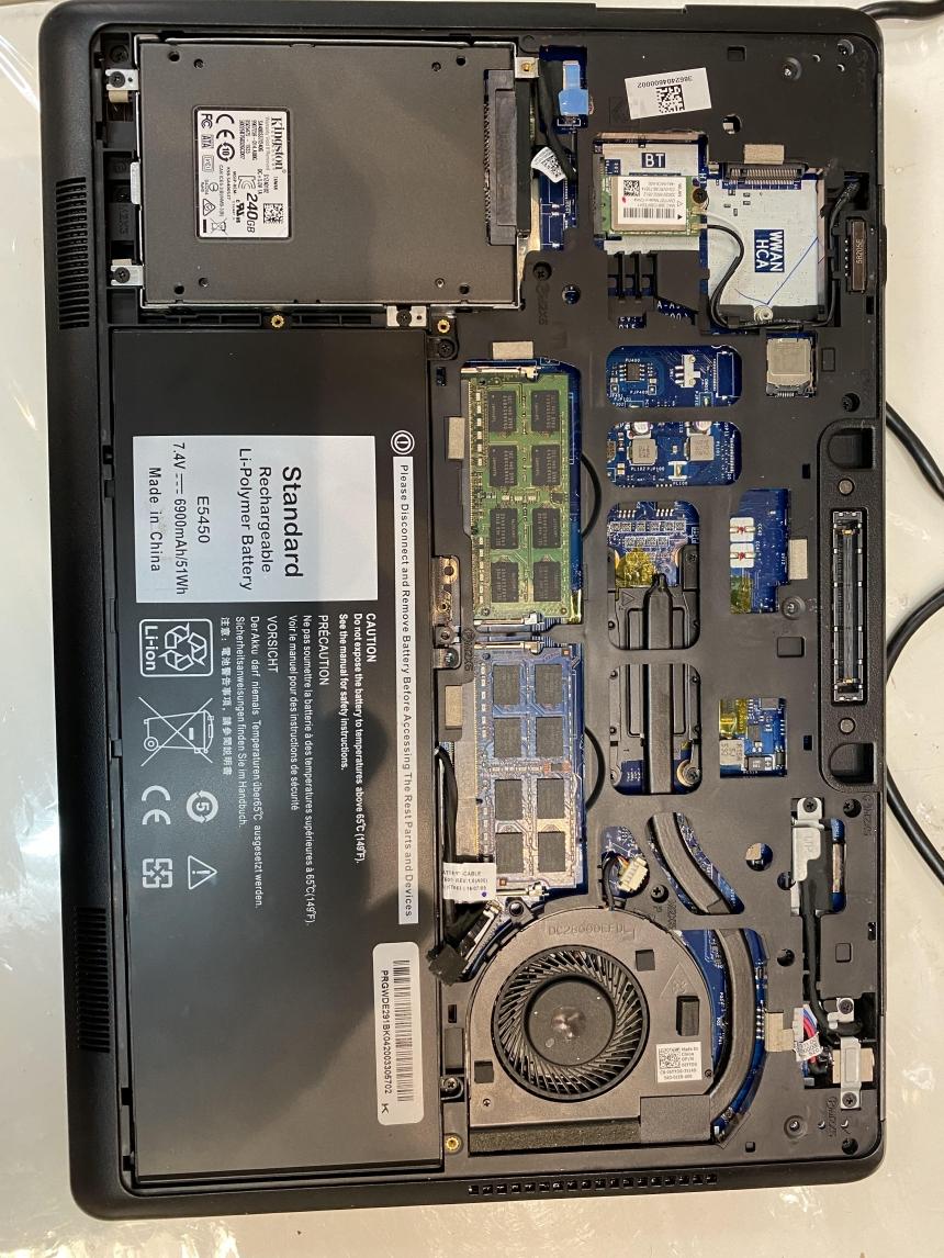 Dell Latitude E5450 Battery Replacement