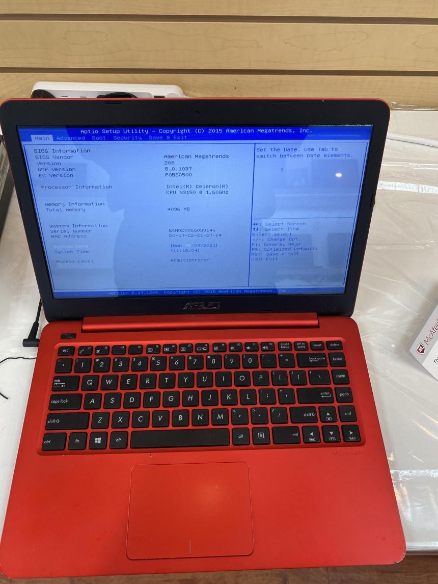 Asus E402s Laptop Repair